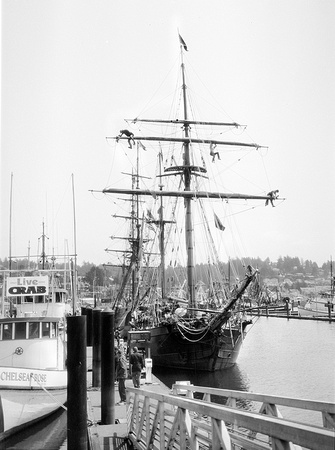In the Rigging, Bayfront, Newport, Oregon